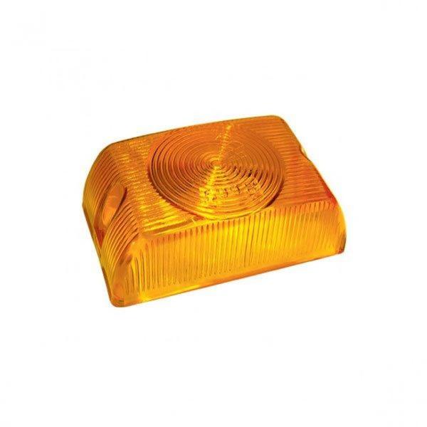 Lente Lanterna Lateral Bau Quadrada Amarela