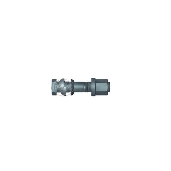 Parafuso Roda Completo 22x98 Com Porca Flangeada Chave 27 Traseiro MB 1313, 1513, 1519, 1924, 2013, LS1941