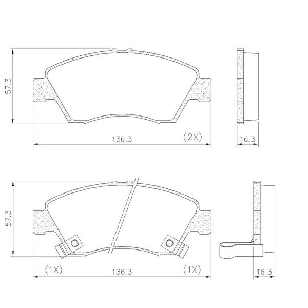 Pastilha Freio Dianteiro Honda Civic 1.5 / 1.6 16v 91/ Sist. Sumitomo