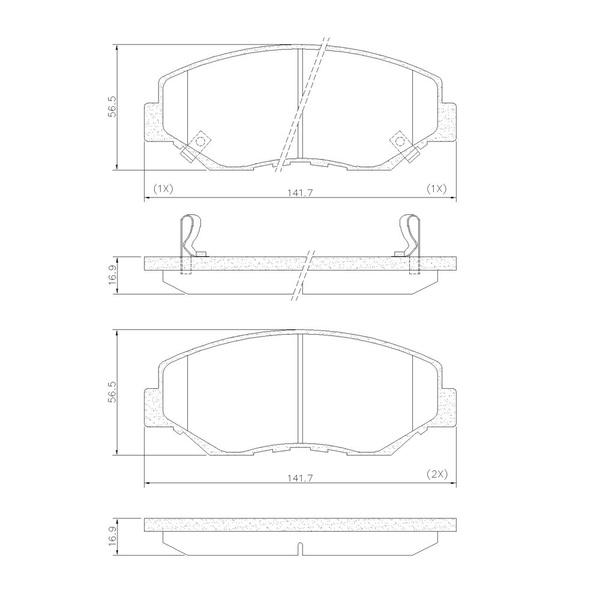 Pastilha Freio Dianteiro Honda CR-V 02/06 Accord 02/