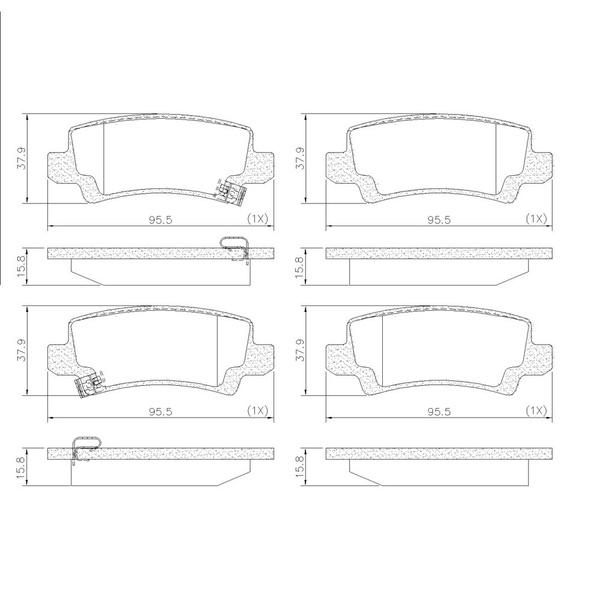 Pastilha Freio Traseiro Toyota Corolla / Fielder 02/08