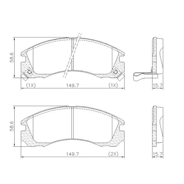 Pastilha Freio Dianteiro Mitsubishi L200 2.5 02/ Pajero 2.5 98/ Lancer Gt 14/ Ecli