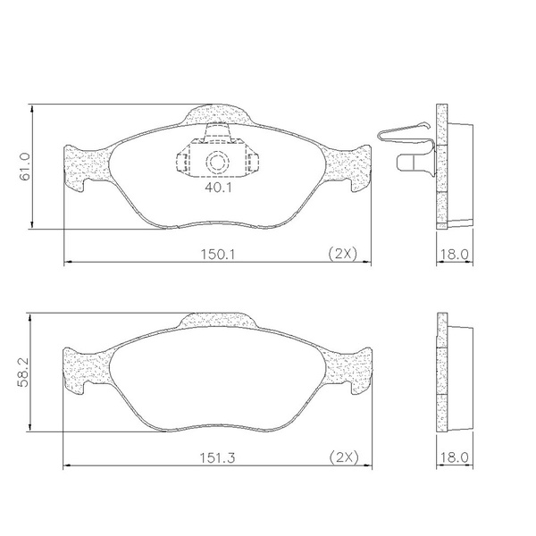 Pastilha Freio Dianteiro Ford Ecosport 03/ Fiesta 1.0 Supercharger 1.6 02/