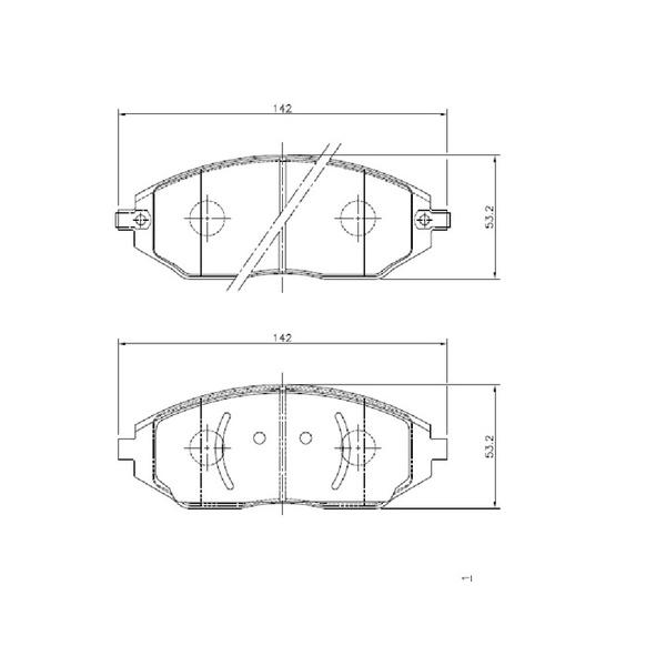 Pastilha Freio Dianteiro GM Cobalt / Sonic / Spin 1.4 / 1.6 / 1.8 8V C/ ABS 2012/