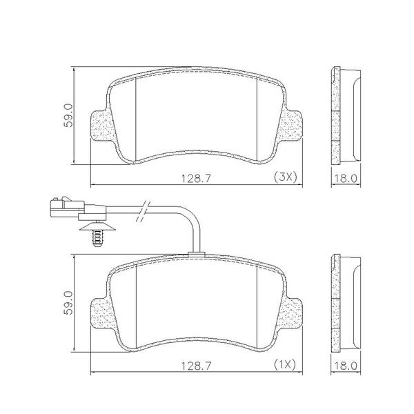 Pastilha Freio Traseiro Renault Master Nova 2.3 2013/