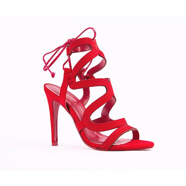 Sandália Vermelha Trancada