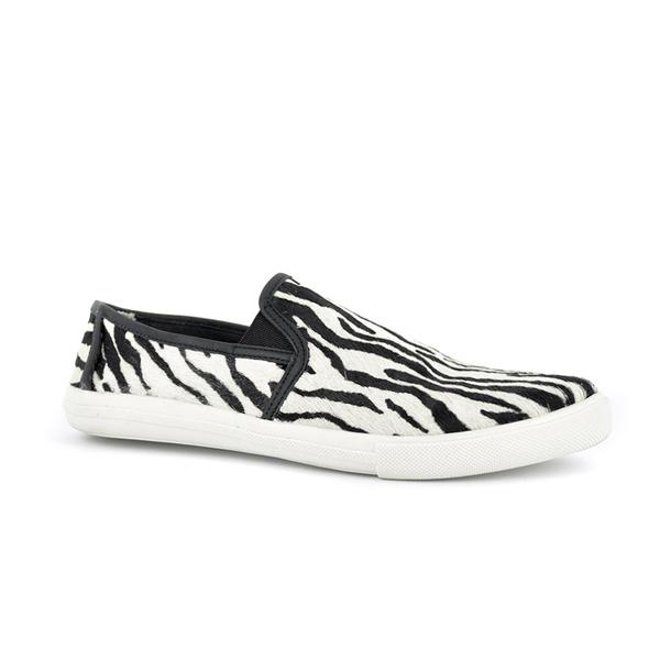 Tênis Couro Pêlo Zebra