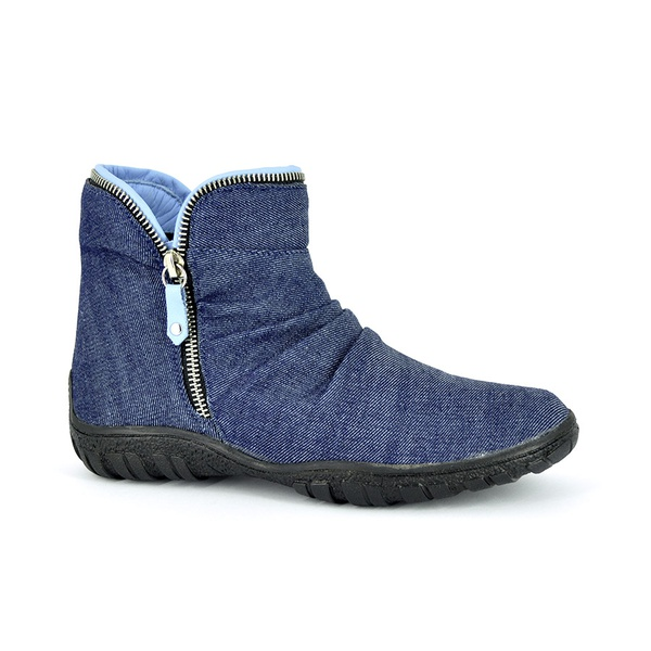 Bota Cano Curto Jeans