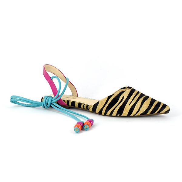 Sapatilha Couro Tigre Pink