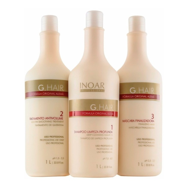Inoar G Hair Escova Progressiva Alemã Kit - 3 x 1 Litro