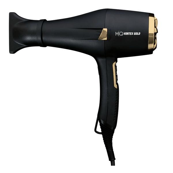 Secador MQ Hair Vortex Gold Ion Preto 2200 Watts - 127 Volts