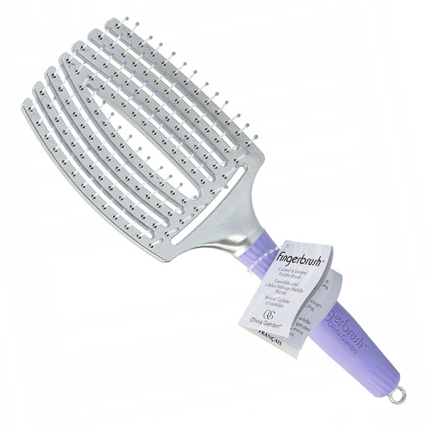 Escova Olivia Garden Fingerbrush Raquete Curvada Grande