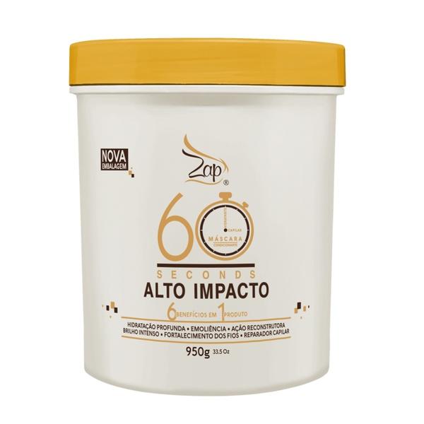 Zap Cosméticos 60 Seconds Alto Impacto Máscara Hidratante - 950g