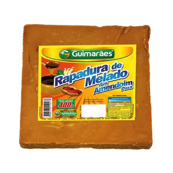 Rapadura de melado com Amendoim Puxa 400g