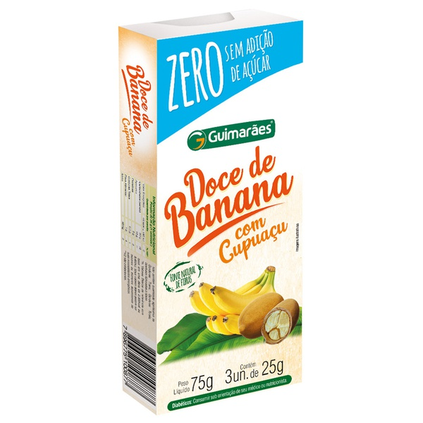 Doce de Banana C/Cupuaçú ZERO 75g