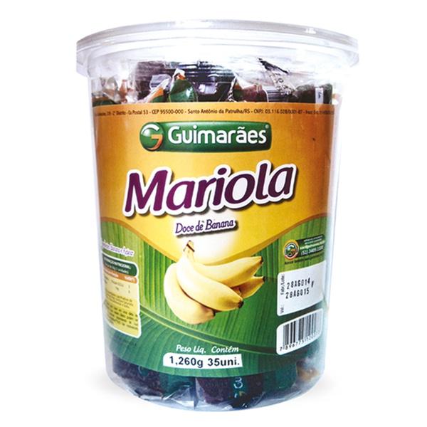 Mariola da Banana Pote 1.260g C/35un