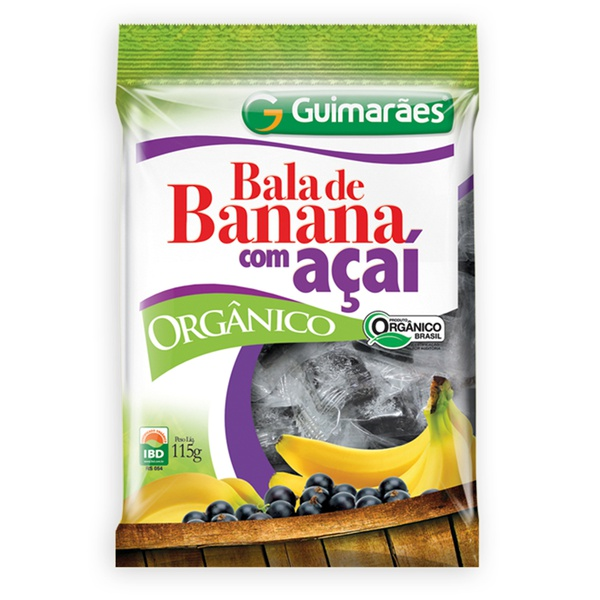 Bala de Banana + Açaí Orgânica 115g