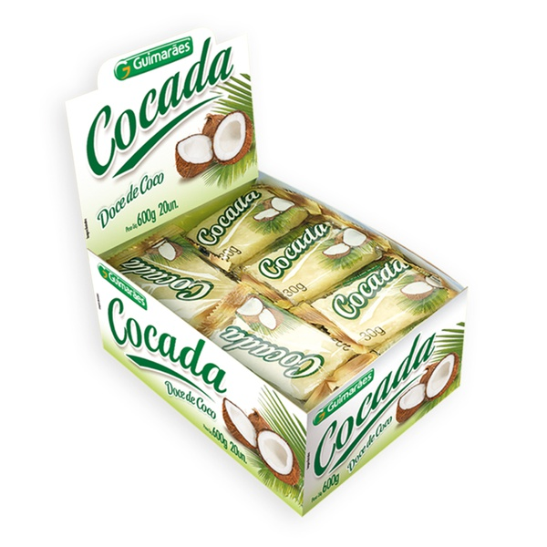Cocada Branca Display 600g