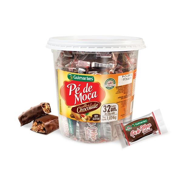Pote Pé de Moça Chocolate 1.024g c/32un