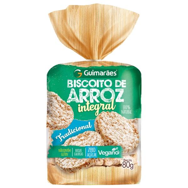 Biscoito de Arroz Integral 80g