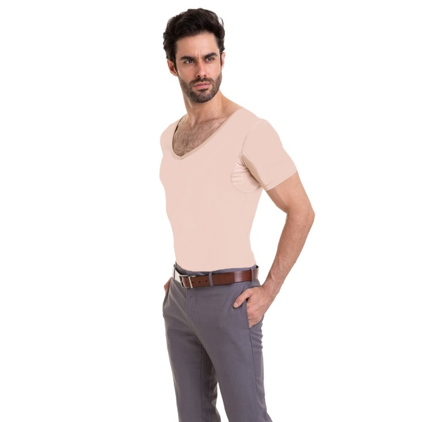 Camisa Skin Shirt Clássica Protege do Suor Nas Axilas Térmica Nude