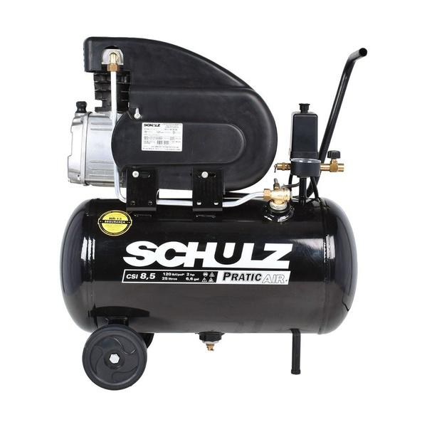 Motocompressor de Ar Pratic Air CSI 8,5 Pés 25 Litros Schulz