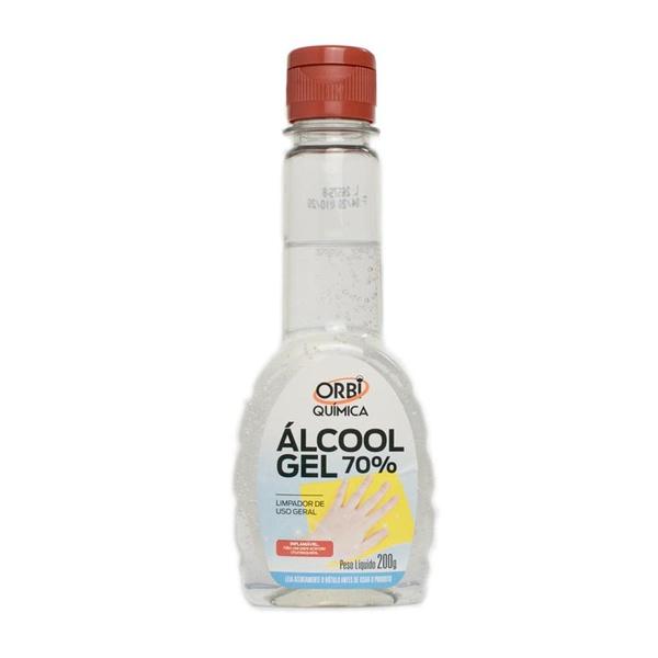 Álcool em Gel 70% de Uso Geral Orbi Química 200 g