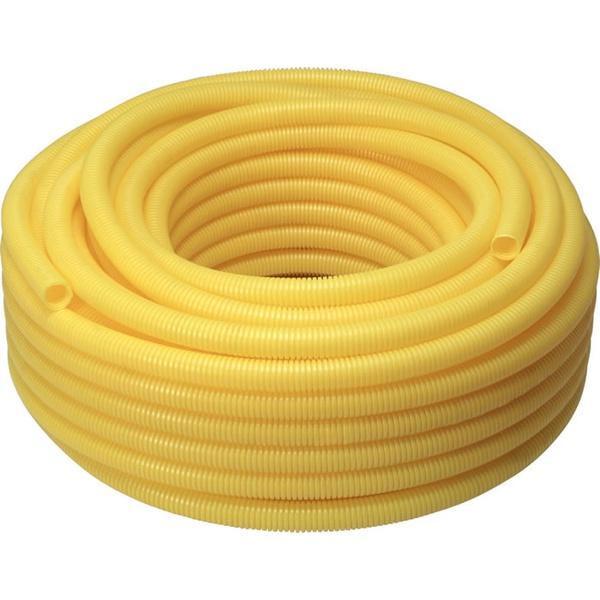 CONDUITE PVC CORRUGADO 20MM AMARELO REF.1230 ROLO 50MT KRONA