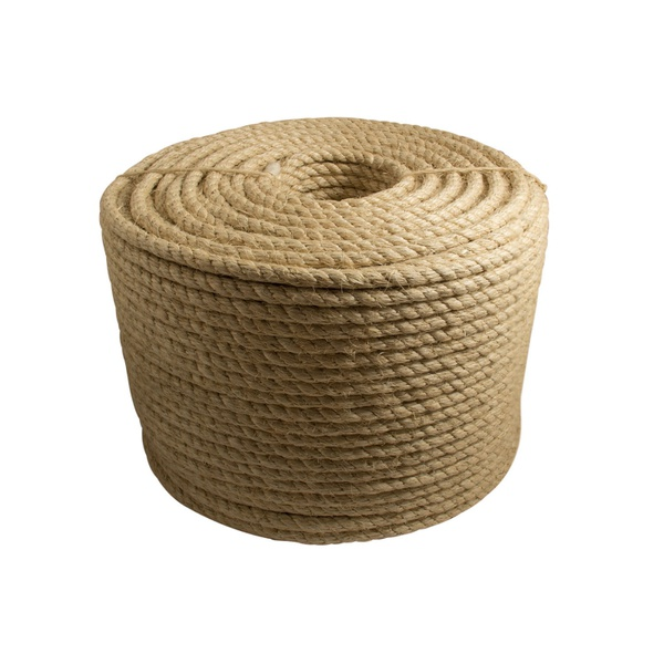 Corda Sisal Torcida Natural 08mm 5/16 Rolo 220mt 12 Kg