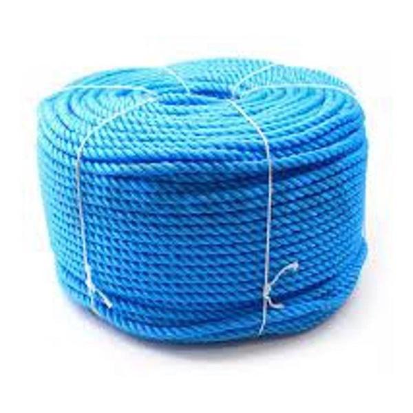 Corda Nylon Torcida Azul 12mm Rolo 220m 15kg