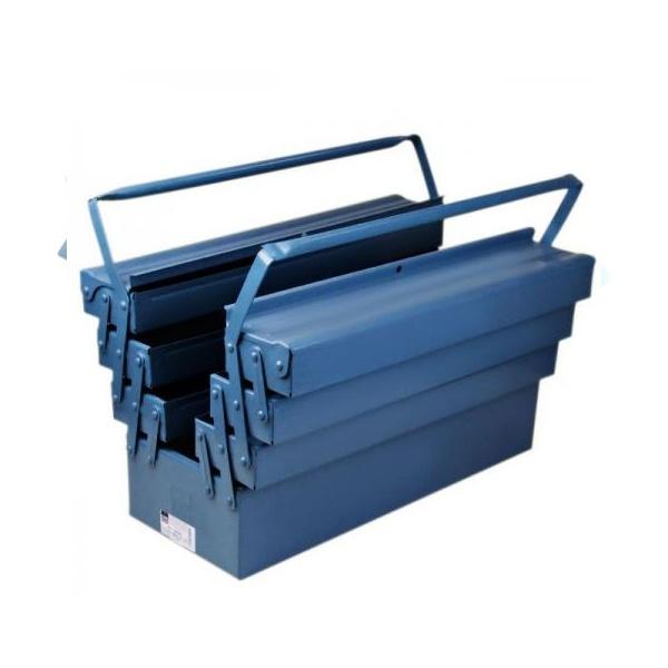 Caixa De Ferramentas Fercar N.9 Sanfonada Com 7 Gavetas Azul 50x20x25