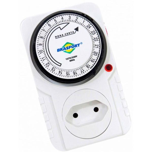 Timer Temporizador Analógico 60hz Bivolt 8769 Brasfort