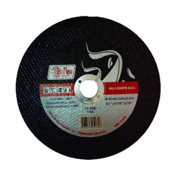 DISCO CORTE DIS-FLEX INOX FERRO 180,0X1,6X22,2