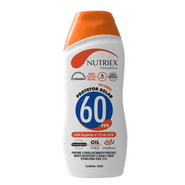 Protetor Solar FPS 60 120ML Bisnaga NUTRIEX