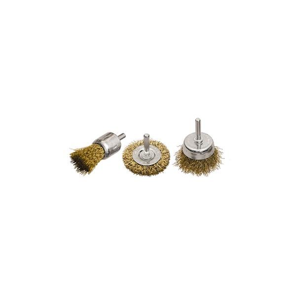 Jogo de Escovas de Aço MTX 3 Peças 1 Plana 50mm 2 Copo 25-50mm 744869