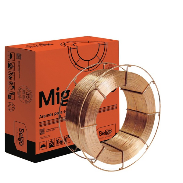 Arame Solda Mig 0,80mm Belgo Bekaert ER70S-6 Rolo com 15KG