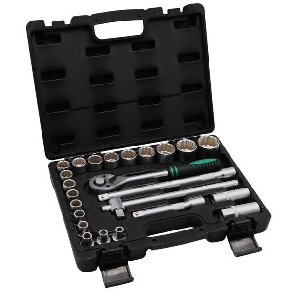 """Jogo de Soquete MTX Estriado 8 a 32mm 1/2"""" com 24 peças"""