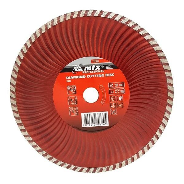 """Disco De Serra Circular Turbo 9"""" Diamantado Corte Mtx"""