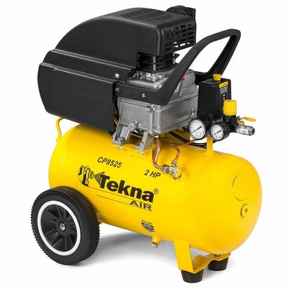 Motocompressor de Ar 2 HP 24 L 8,5 Pés 8 bar TEKNA CP-8525 110v
