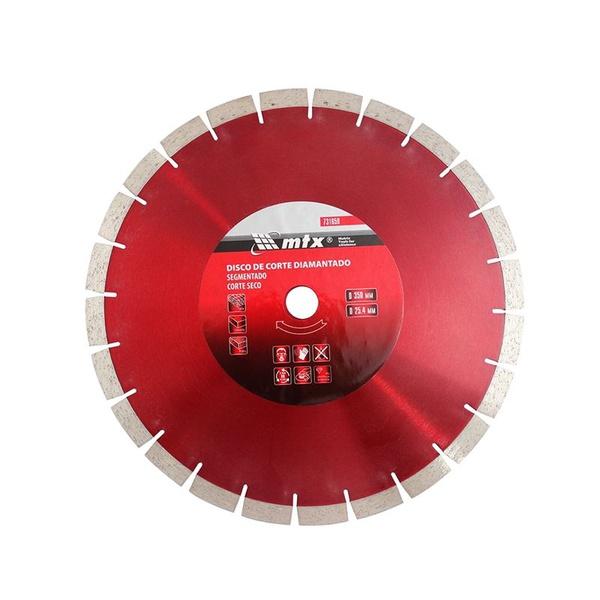 Disco de Corte MTX Diamantado Segmentado 731659 350 x 25,4mm Corte Seco