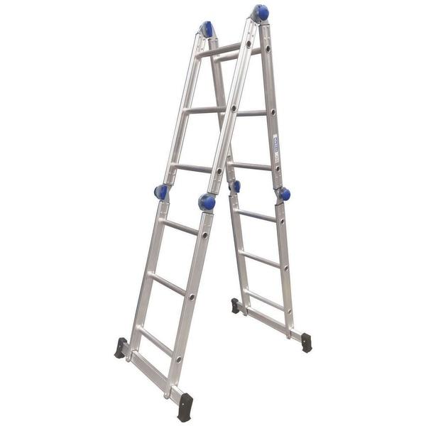 Escada Articulada 3x4 com 12 Degraus de Aluminio - Real