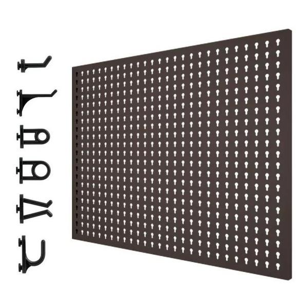 Painel em Aço para Ferramentas com Kit de 24 Ganchos Plásticos PRESTO 40414