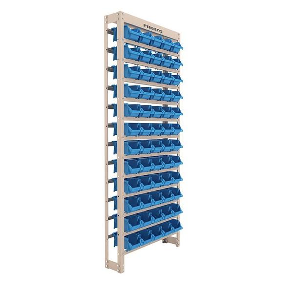 Kit Estante Gaveteiro com 60 Gavetas Empilháveis Nr. 3 Azul PRESTO 93004