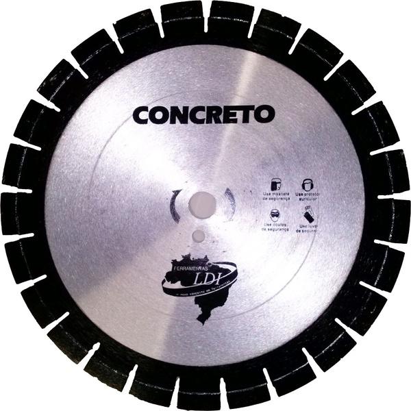 Disco Diamantado 14 Pol. 350mm Segmentado Pastilha 15mm Super Ldi Ferramentas