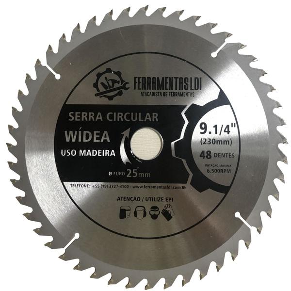 Disco Serra Circular 9.1/4 230mm 48 Dentes Madeira Profissional Ldi