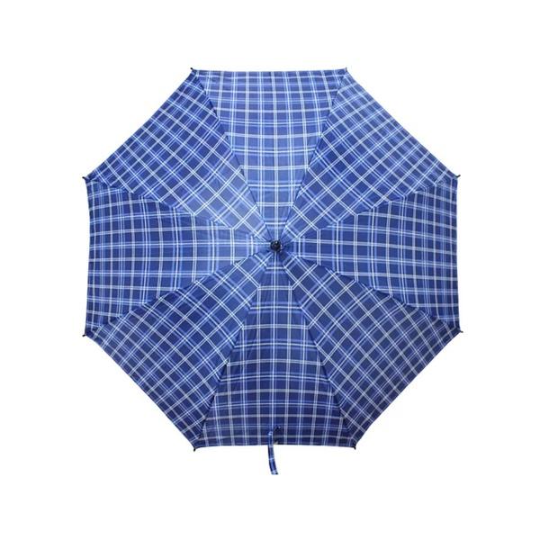 Guarda Chuva Xadrez Grande Tipo Portaria Azul - Só Aqui Ferramentas