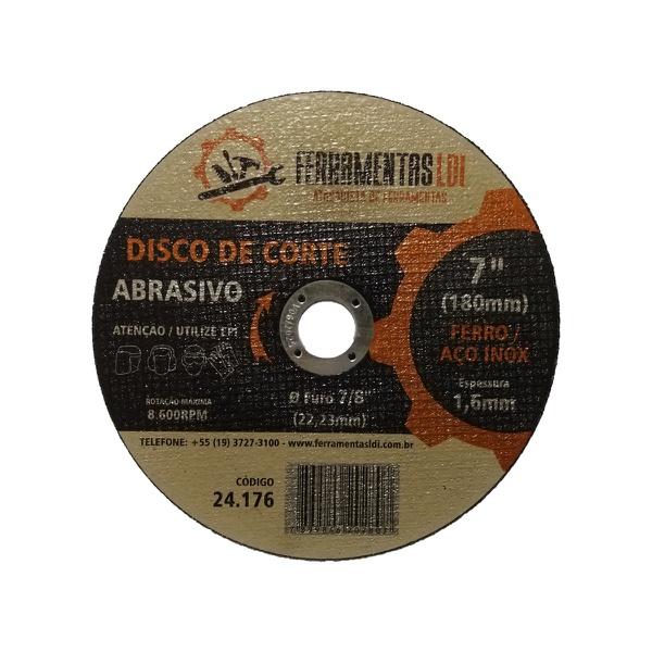 Disco de Corte 180mm para Aço Inox - LDI Ferramentas