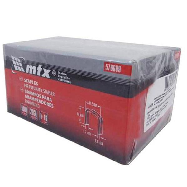 Grampos Grampeador Pneumático 5000 Peças 576609 Mtx 16mm