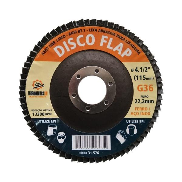 Disco de Lixa Flap 4.1/2 Pol. 115x22mm - LDI Ferramentas
