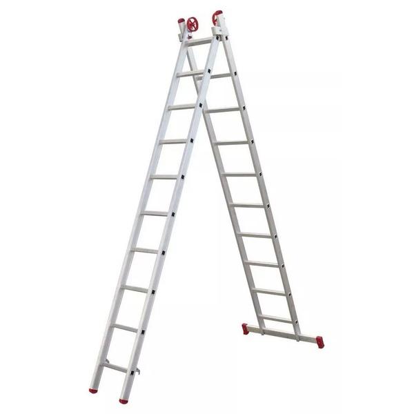 Escada de Alumínio 9 Degraus 3,25x5m Ágata Extensiva - ENE 009